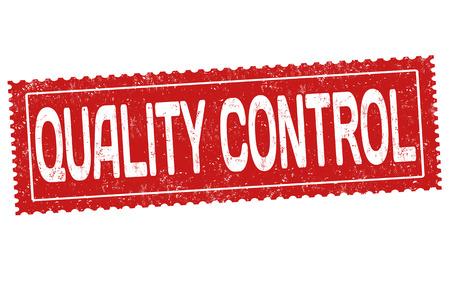 Quality control grunge rubber stamp on white background, vector illustration Illustration