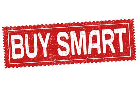 Buy smart grunge rubber stamp on white background, vector illustration