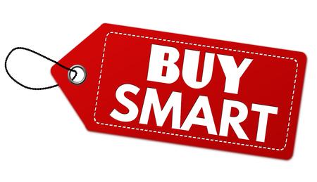 Buy smart  label or price tag on white background, vector illustration Illusztráció