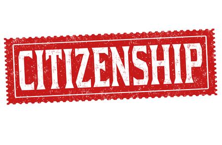 Citizenship grunge rubber stamp on white background, vector illustration