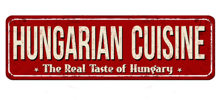 Hungarian cuisine vintage metal sign