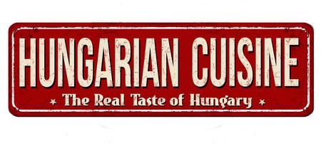 Hungarian cuisine vintage metal sign