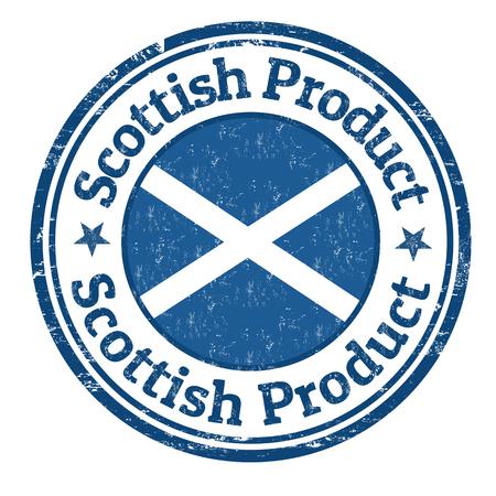 Scottish product grunge rubber stamp on white background, vector illustration