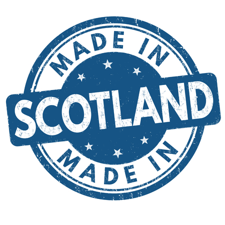 Made in Scotland grunge rubber stamp on white background, vector illustration Illustration