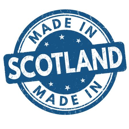Made in Scotland grunge rubber stamp on white background, vector illustration Иллюстрация