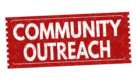 Community outreach grunge rubber stamp on white background, vector illustration Illustration