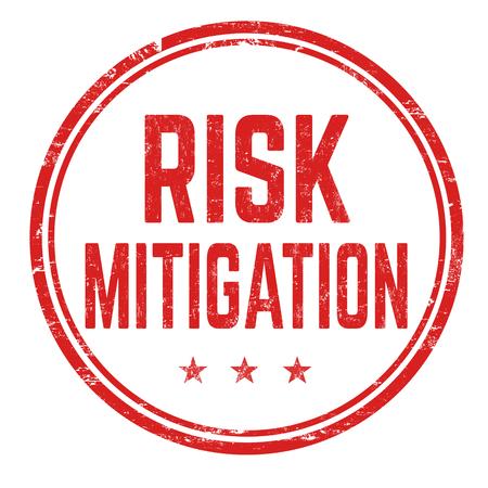 Timbre en caoutchouc grunge atténuation des risques sur fond blanc, illustration vectorielle
