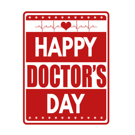 Happy doctors day grunge rubber stamp