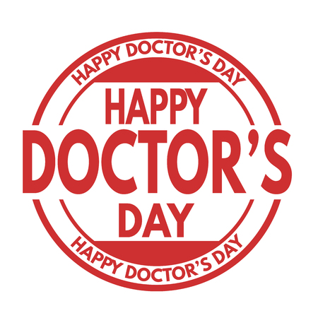 Happy doctor's day grunge rubber stamp Ilustrace