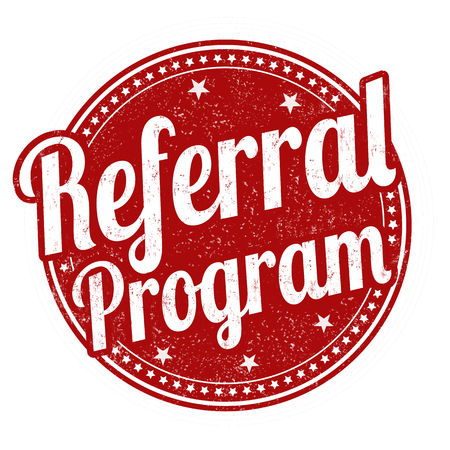 Referral program grunge rubber stamp on white background, vector illustration 일러스트