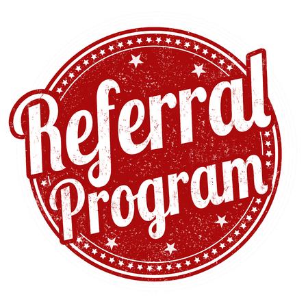 Referral program grunge rubber stamp on white background, vector illustration Vettoriali