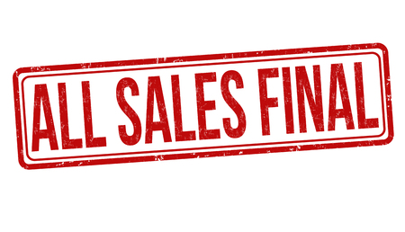 All sales final grunge rubber stamp on white background, vector illustration
