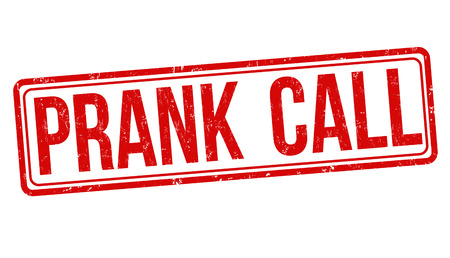 Prank call grunge rubber stamp on white background, vector illustration Illustration