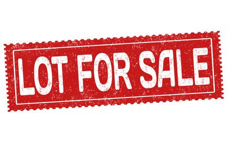 Lot for sale grunge rubber stamp on white background, vector illustration