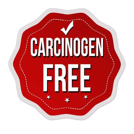 Carcinogen free label or sticker on white background, vector illustration