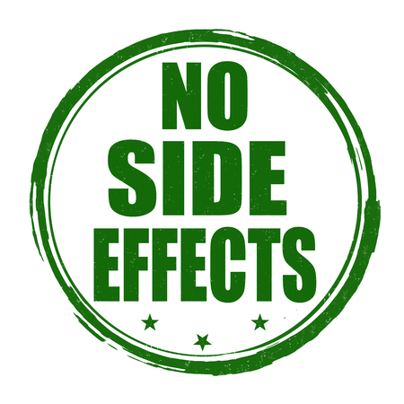 No side effects grunge rubber stamp on white background, vector illustration