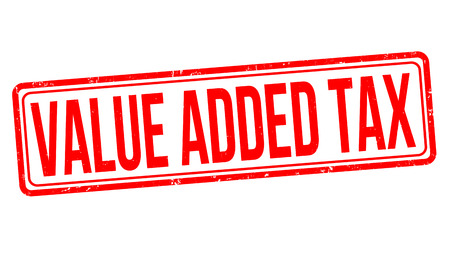 Value added tax grunge rubber stamp on white background, vector illustration