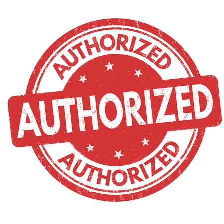 Authorized grunge rubber stamp on white background, vector illustration.