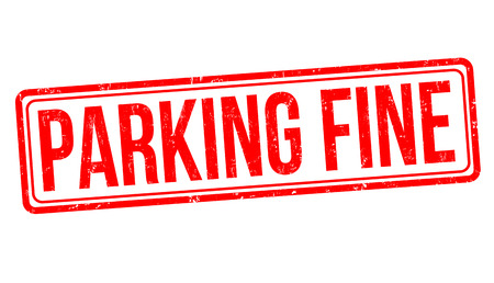 Parking fine grunge rubber stamp on white background, vector illustration.