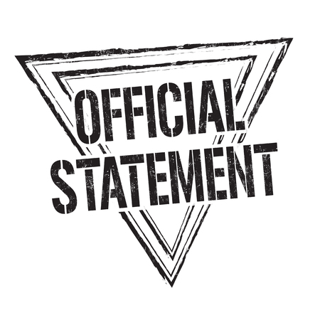 Official statement grunge rubber stamp on white background, vector illustration. 일러스트