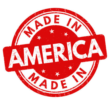 Made in America grunge rubber stamp on white background, vector illustration.