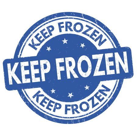 Keep frozen rubber stamp icon