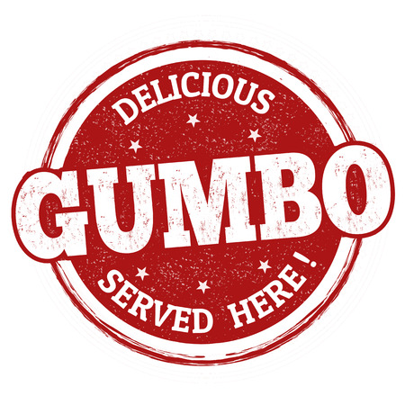 Delicious Gumbo sign or stamp on white background, vector illustration Illustration
