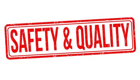 Safety & quality grunge rubber stamp on white background, vector illustration Ilustrace