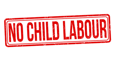 No child labour grunge rubber stamp on white background, vector illustration