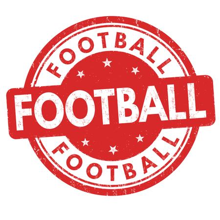 Football grunge rubber stamp on white background, vector illustration Illustration
