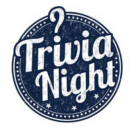 Trivia night grunge rubber stamp on white background, vector illustration