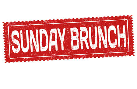 Sunday brunch grunge rubber stamp on white background, vector illustration