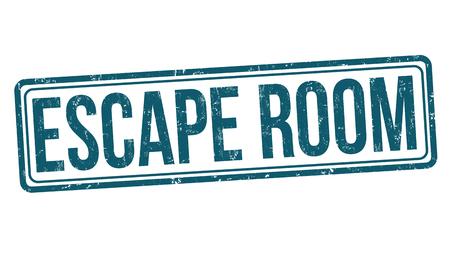 Escape room grunge rubber stamp on white background, vector illustration Archivio Fotografico - 101646695
