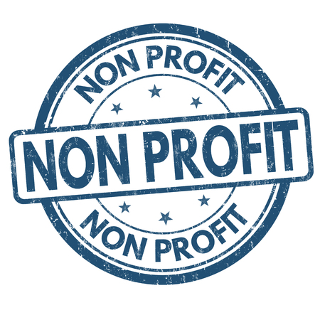 Non profit grunge rubber stamp on white background, vector illustration