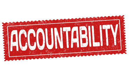 Accountability grunge rubber stamp on white background, vector illustration