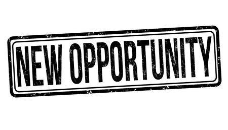 New opportunity grunge rubber stamp on white background
