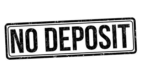 No deposit grunge rubber stamp on white background, vector illustration
