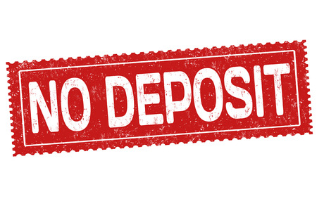 No deposit grunge rubber stamp on white background, vector illustration