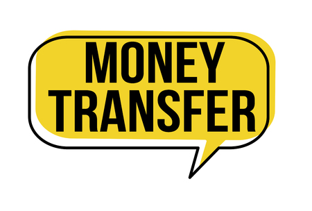 Money transfer speech bubble on white background, vector illustration Ilustração