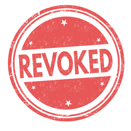 Revoked grunge rubber stamp on white background, vector illustration