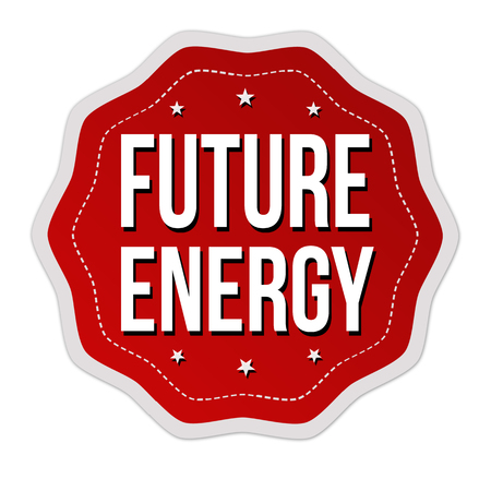 Future energy label or sticker on white background, vector illustration Illustration