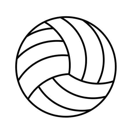 Volleyball ball icon on white background, vector illustration