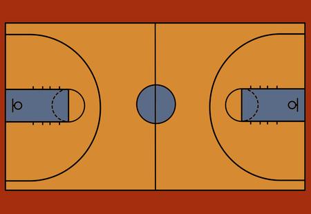 Basketball court floor with line, vector illustration Illustration