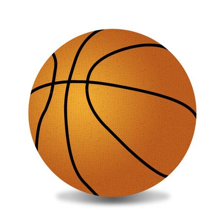 Basketball ball on white background, vector illustration