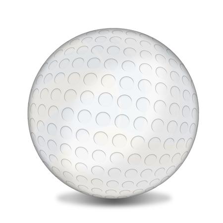 Golf ball on white background, vector illustration Illustration