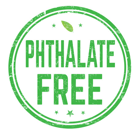 Signo libre de ftalatos o sello sobre fondo blanco, ilustración vectorial Ilustración de vector