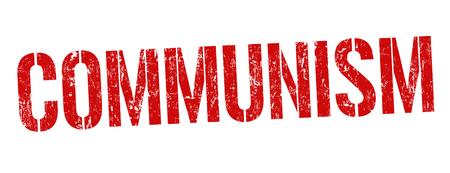 Signe de communisme ou timbre sur fond blanc, illustration vectorielle Vecteurs