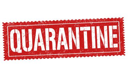 Quarantine sign or stamp on white background, vector illustration