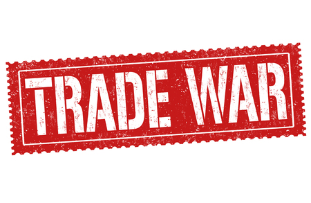 Trade war sign or stamp on white background, vector illustration Ilustrace
