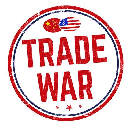 Trade war sign or stamp on white background, vector illustration Иллюстрация